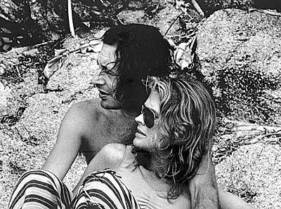 Tarso e Candice Bergen. (foto retirada do livro)